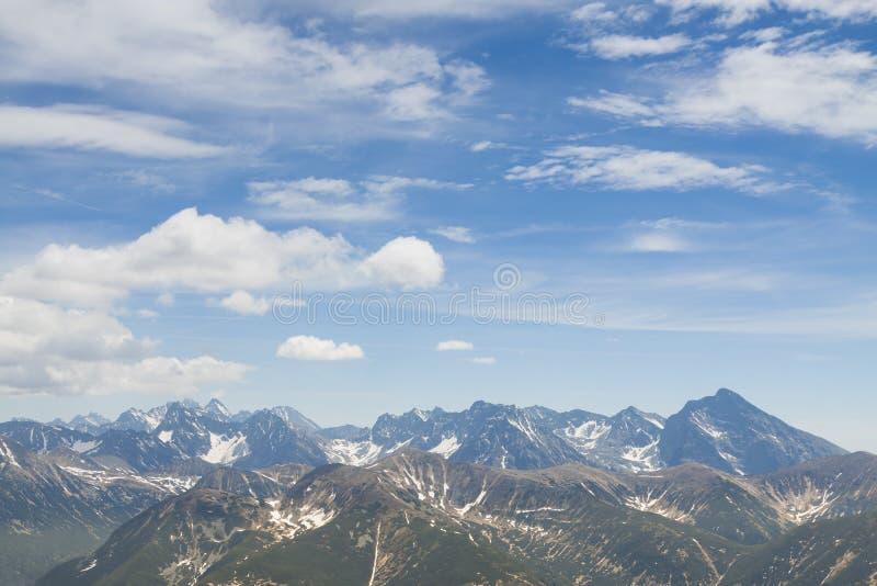Polonia/Eslovaquia, montañas de Tatra, panorama fotografía de archivo libre de regalías