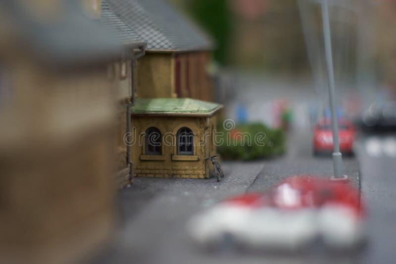 Polonia, Gliwice, 12/01/2019 miniatura de ciudades en Kolejkowo fotos de archivo libres de regalías