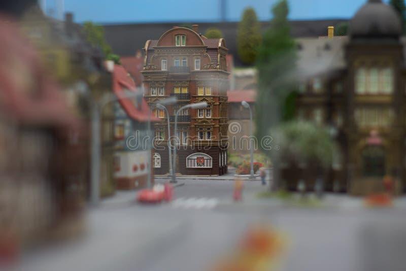 Polonia, Gliwice, 12/01/2019 miniatura de ciudades en Kolejkowo foto de archivo