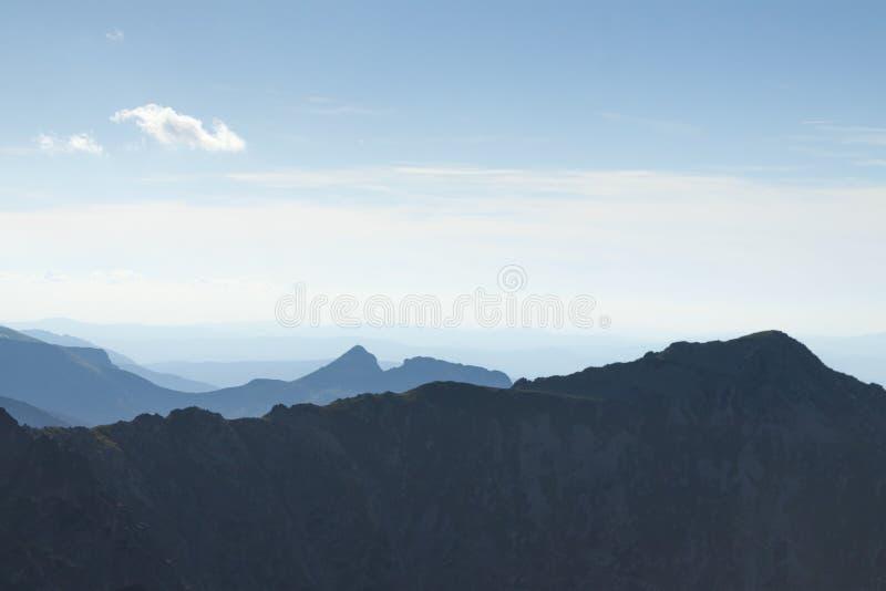 Polonia, montañas de Tatra, pico de Giewont visto de sureste imagen de archivo libre de regalías