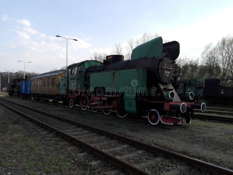 Polonia, Wolsztyn - la locomotora en la ciudad de Wolsztyn imágenes de archivo libres de regalías