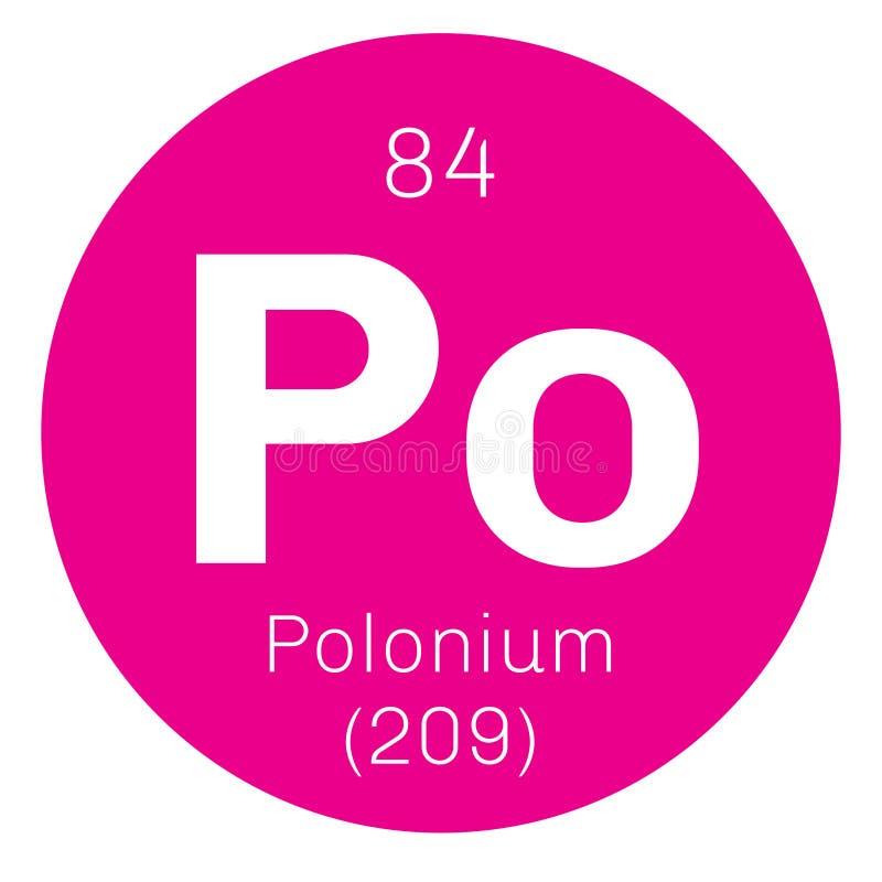 Polonium chemisch element stock illustratie