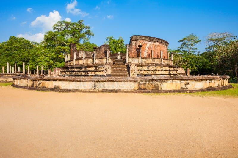 Polonnaruwa在斯里兰卡 图库摄影