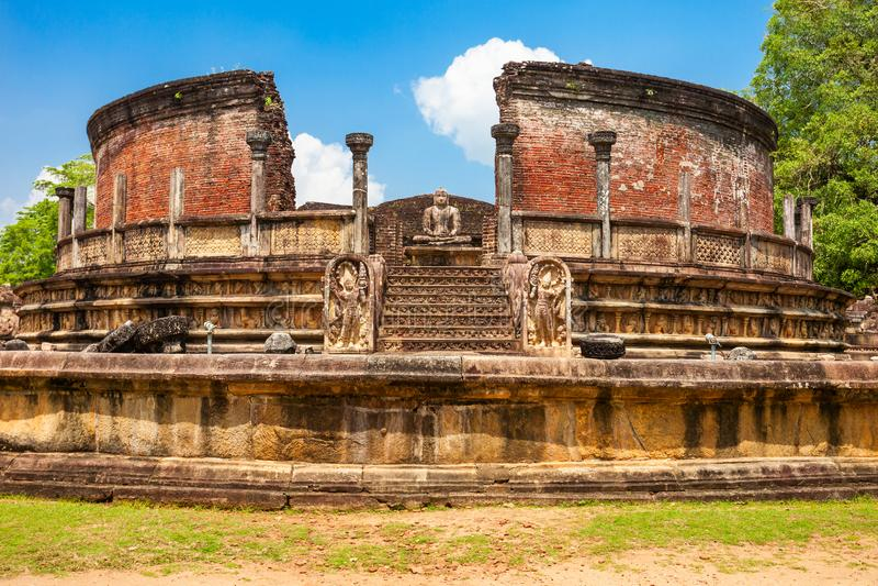 Polonnaruwa在斯里兰卡 免版税库存照片