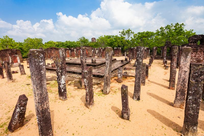 Polonnaruwa在斯里兰卡 库存图片