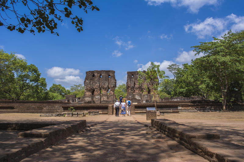Polonnaruwa Antyczny miasto Royal Palace Sri Lanka zdjęcia stock