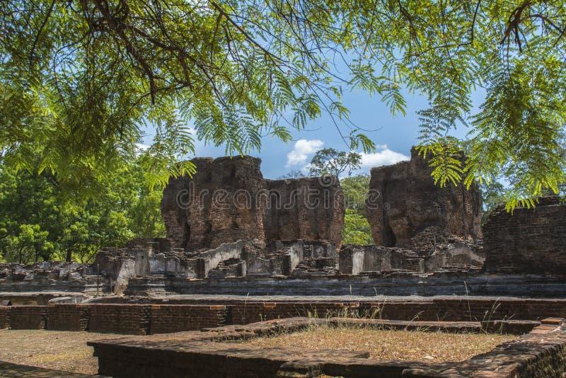 Polonnaruwa Antyczny miasto Royal Palace Sri Lanka zdjęcie stock