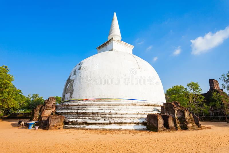 Polonnaruwa en Sri Lanka imagen de archivo