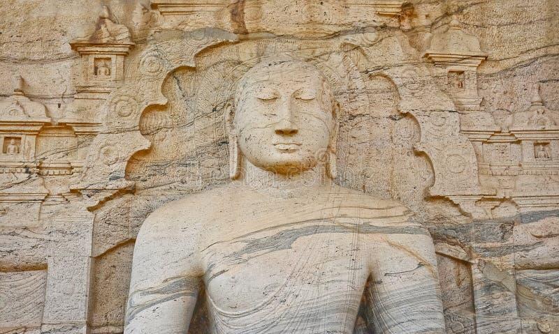 Polonnaruwa Gal Vihara,斯里兰卡 库存照片