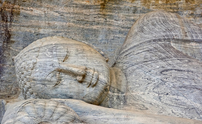 Polonnaruwa Gal Vihara,斯里兰卡 免版税库存图片