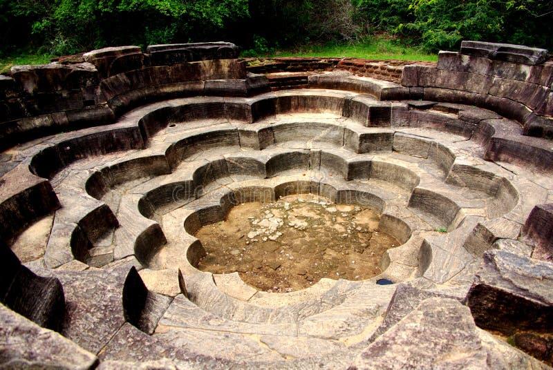 Polonnaruwa Lotus Pond stockfotografie
