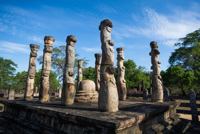 Polonnaruwa, Nissankalata Mandapa, Sri Lanka obraz royalty free