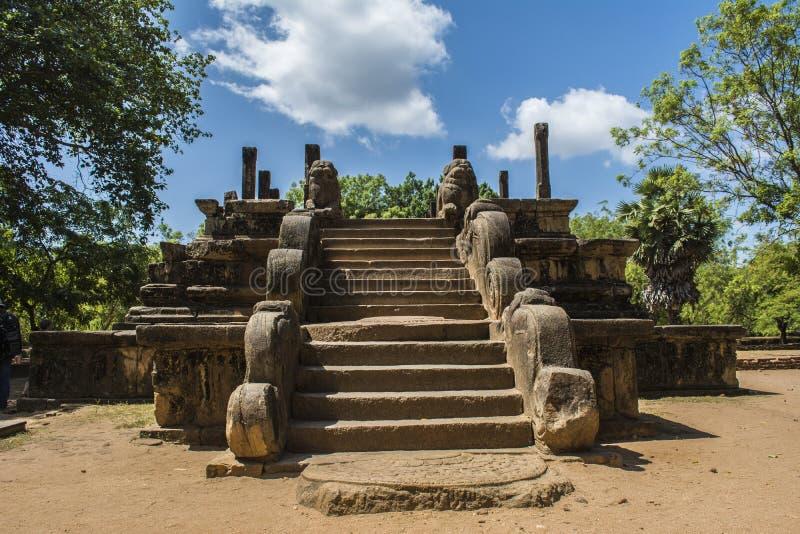 Polonnaruwa rada miasta Antyczna sala Sri Lanka fotografia royalty free