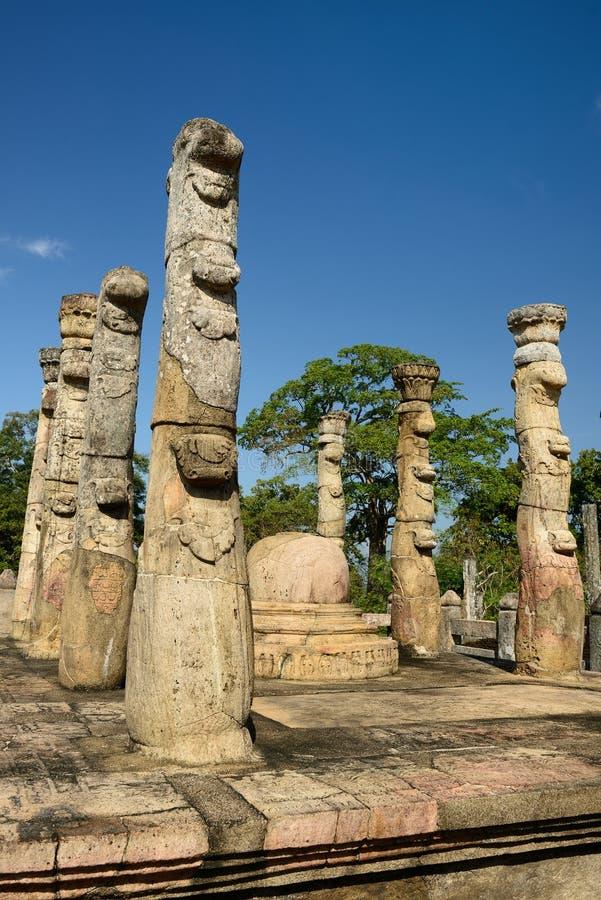 Polonnaruwa ruina, Nissankalata Mandapa, Sri Lanka obrazy royalty free