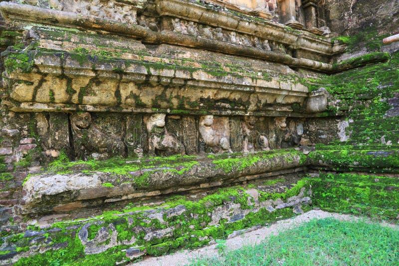 Polonnaruwa-Ruine stockfotos