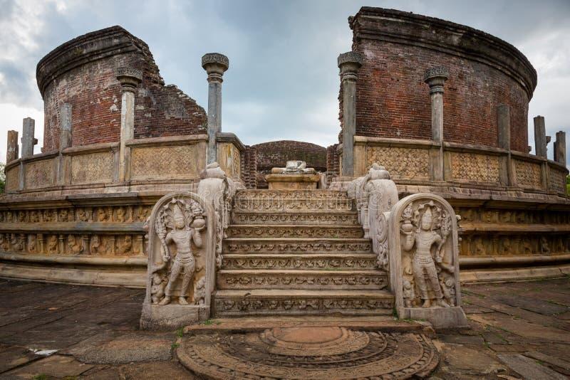 Polonnaruwa-Ruine in Sri stockbilder