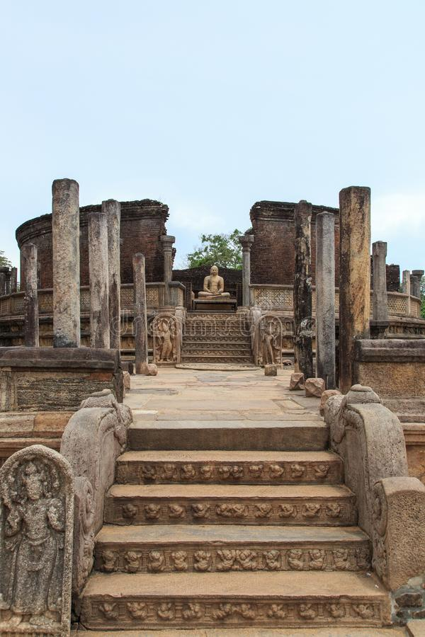 Polonnaruwa Vatadage -斯里兰卡 免版税库存照片