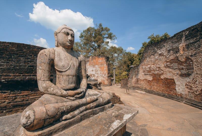 Polonnaruwa Vatadage antigo em Sri Lanka fotos de stock