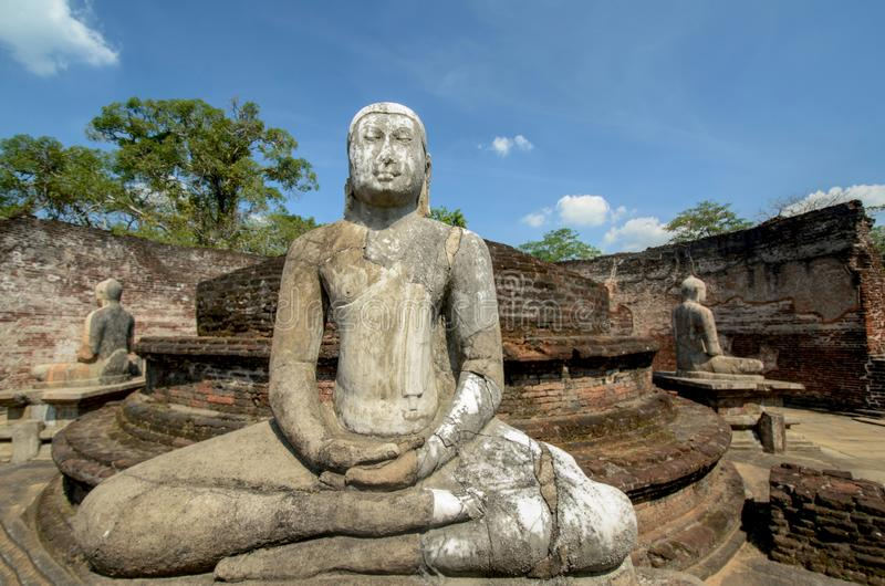 Polonnaruwa Vatadage antigo em Sri Lanka foto de stock royalty free