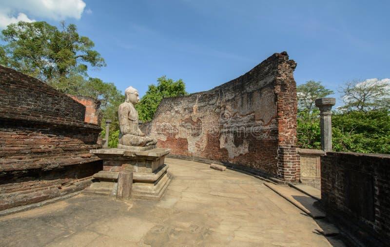 Polonnaruwa Vatadage antigo em Sri Lanka imagem de stock