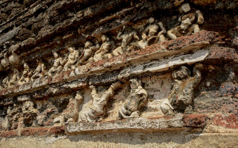 Polonnaruwa Vatadage antigo em Sri Lanka fotografia de stock royalty free