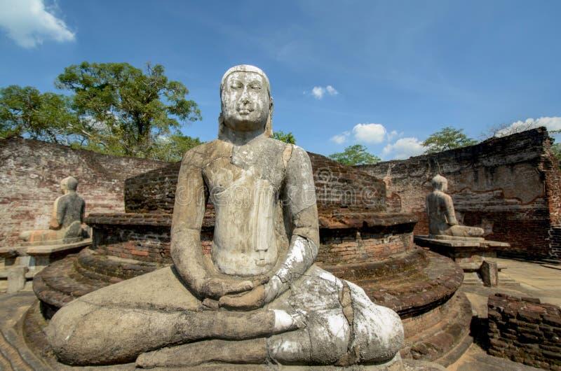 Polonnaruwa Vatadage antiguo en Sri Lanka foto de archivo libre de regalías