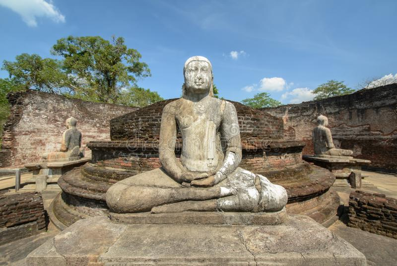 Polonnaruwa Vatadage antiguo en Sri Lanka imagen de archivo libre de regalías