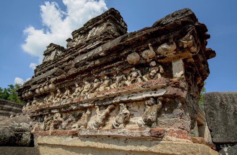 Polonnaruwa Vatadage antiguo en Sri Lanka fotografía de archivo libre de regalías