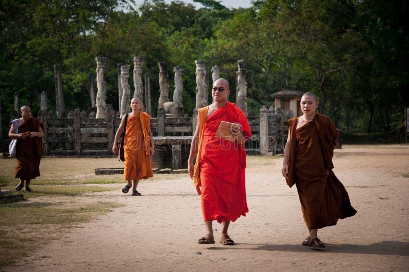 Polonnaruwaen Vatadage - forntida buddistisk struktur Forntida stad för Unesco av Polonnaruwa, Sri Lanka royaltyfria bilder