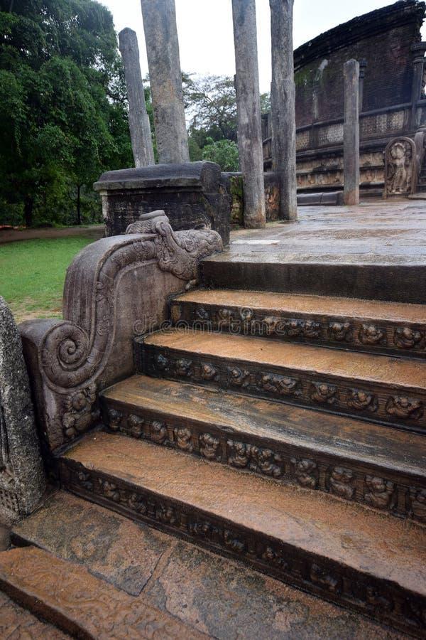 Polonnaruwatempel stock afbeelding