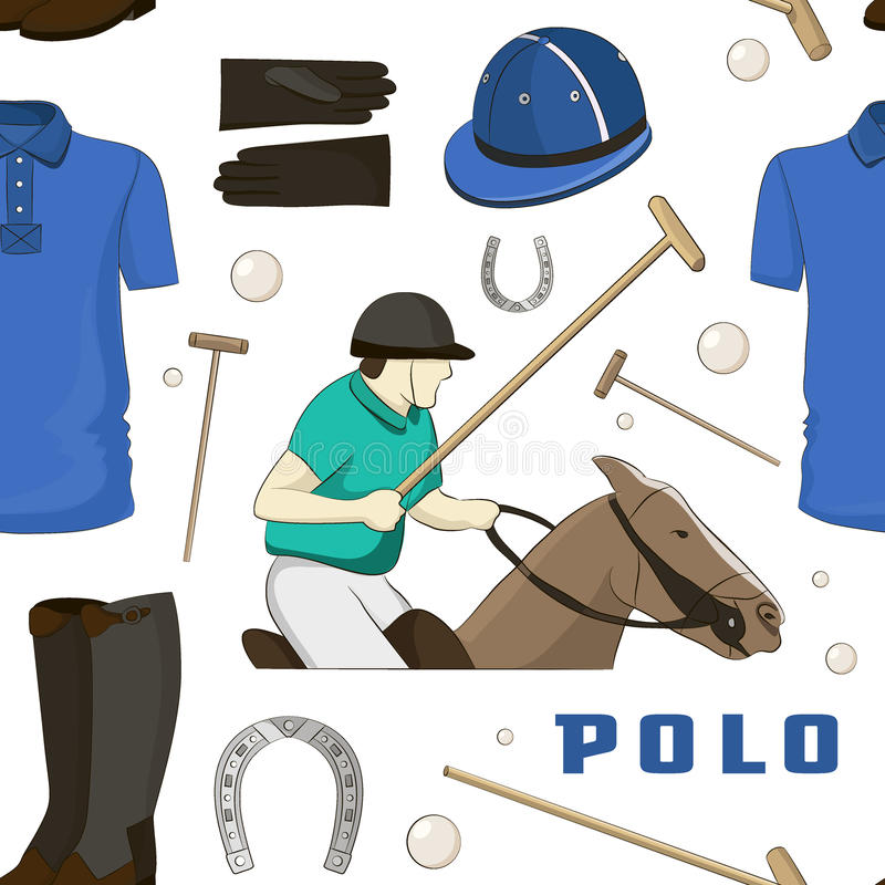 Poloobjekt, enhetlig modell för sport stock illustrationer