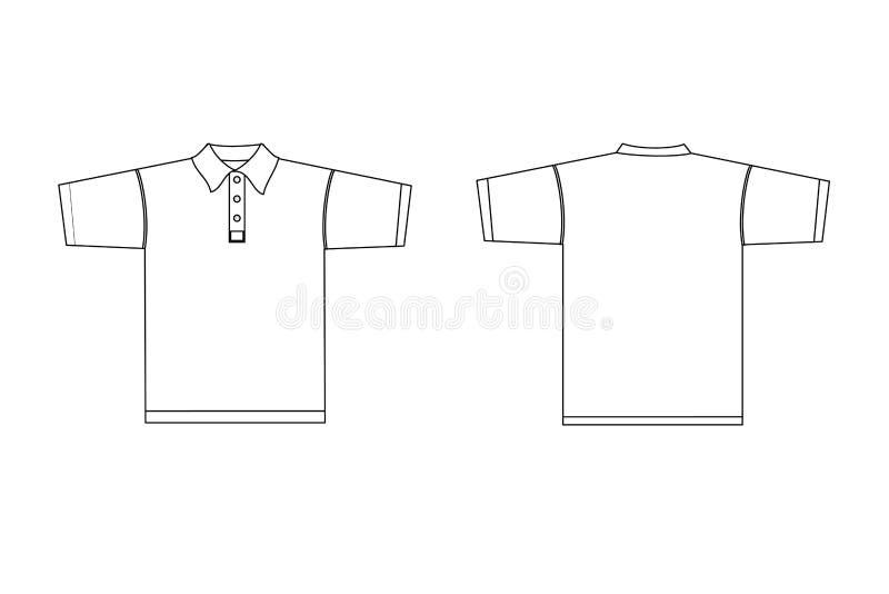 Polooverhemd met kraag - mannetje royalty-vrije illustratie