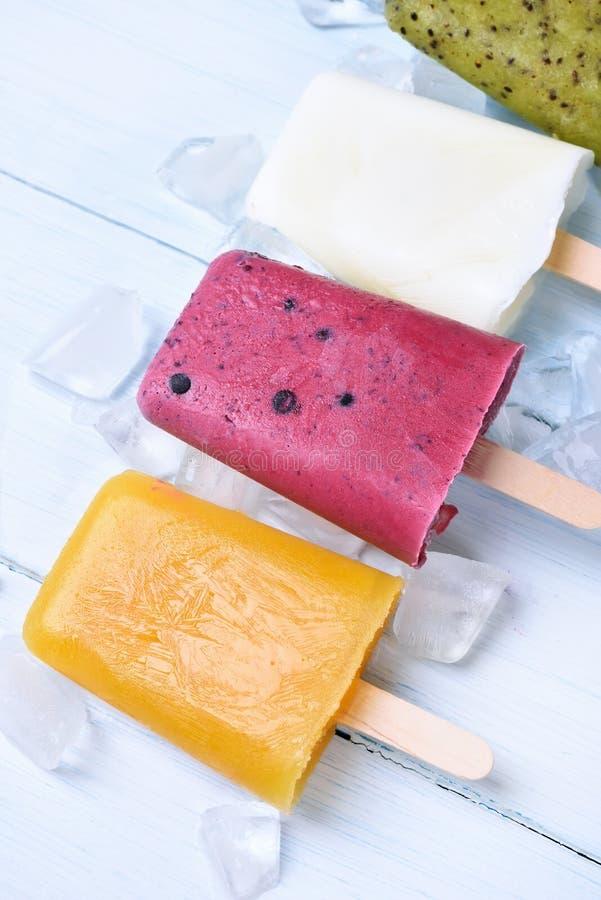 Polos congelados hechos en casa del helado foto de archivo libre de regalías