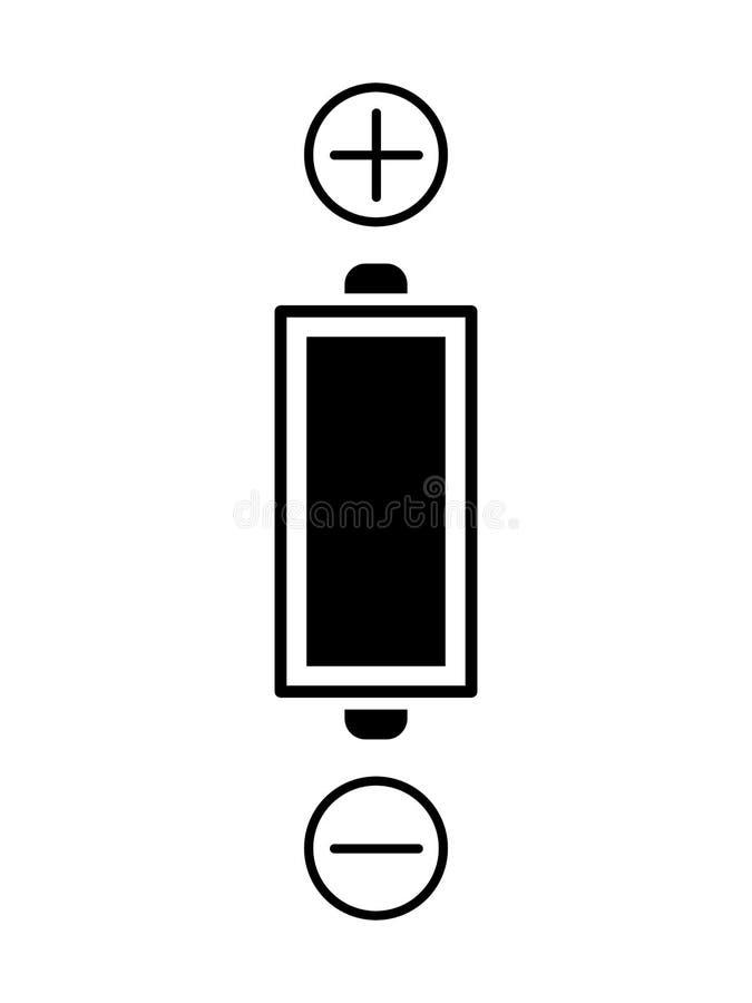 Polos de la batería libre illustration