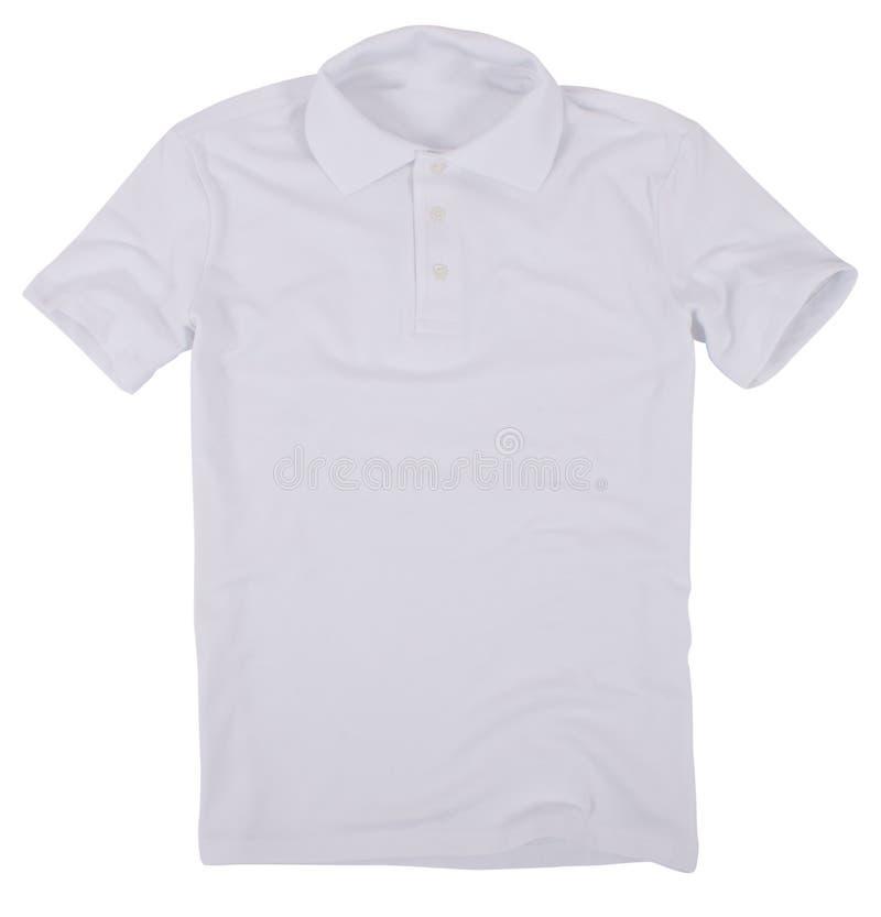 Poloskjorta som isoleras på vit bakgrund fotografering för bildbyråer