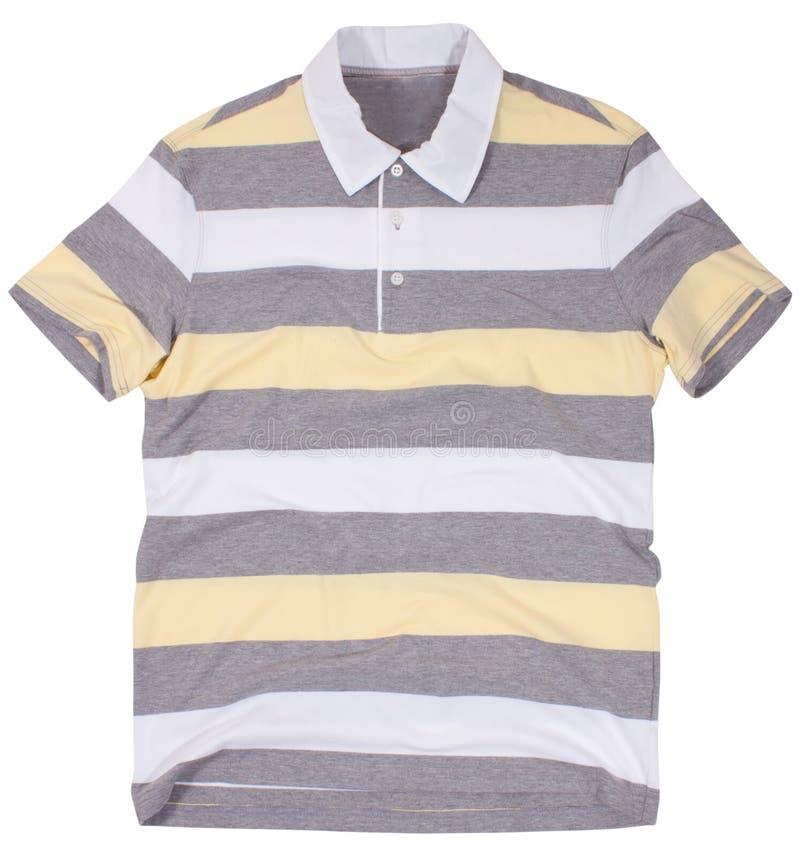 Poloskjorta som isoleras på vit bakgrund arkivfoton