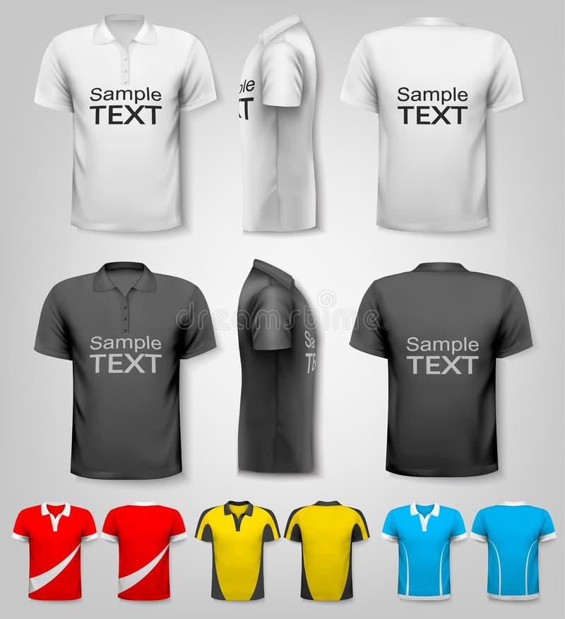 Poloskjortor med prövkopiatextutrymme vektor vektor illustrationer