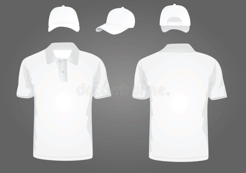 Polot-shirt en honkbal GLB vector illustratie
