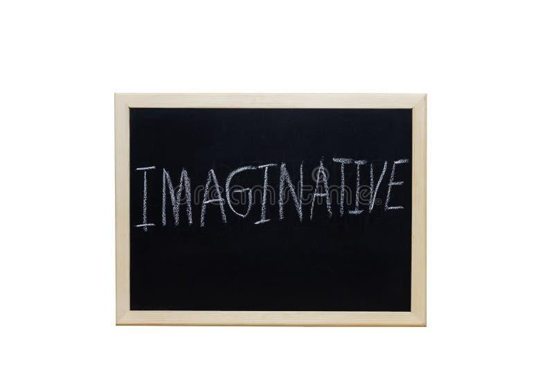 POLOTNY pisać z biel kredą na blackboard zdjęcie royalty free