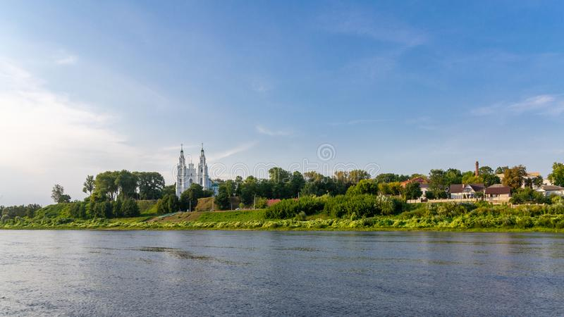 Polotsk, Belarus. Drone HDR-photo. Sofia Cathedral in Polotsk, Belarus. Drone HDR-photo stock image