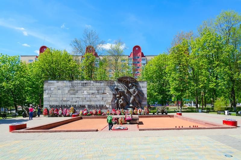 Monument to Liberators of Polotsk, Polotsk, Belarus royalty free stock photo