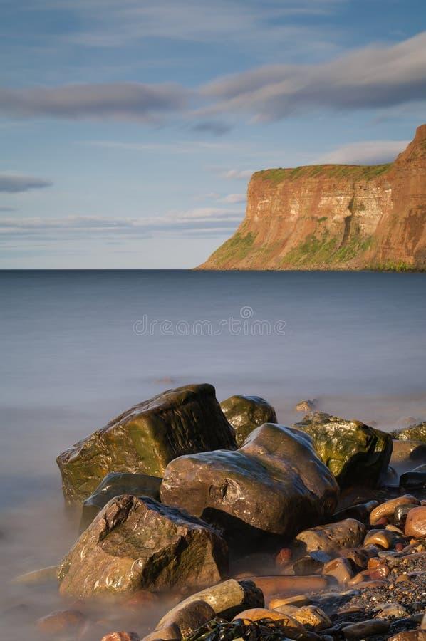 Polowanie faleza - - Huntcliff, Saltburn, Saltburn morze - fotografia royalty free
