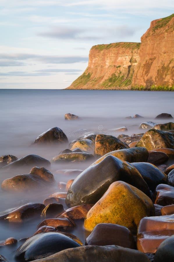 Polowanie faleza - - Huntcliff, Saltburn, Saltburn morze - zdjęcia stock