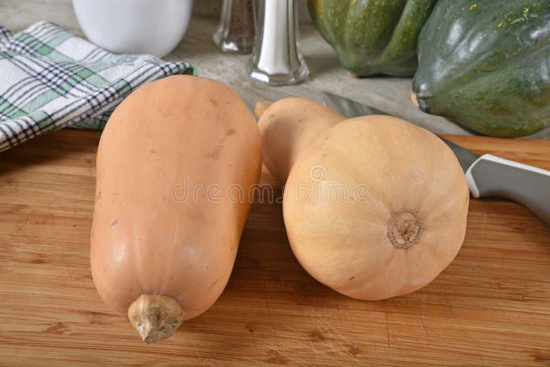 Polpa de butternut crua fresca foto de stock