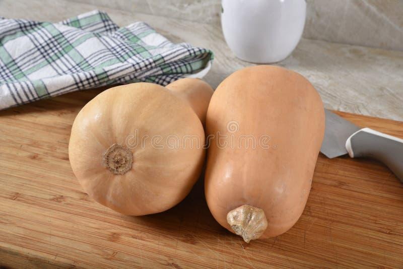 Polpa de butternut fresca foto de stock