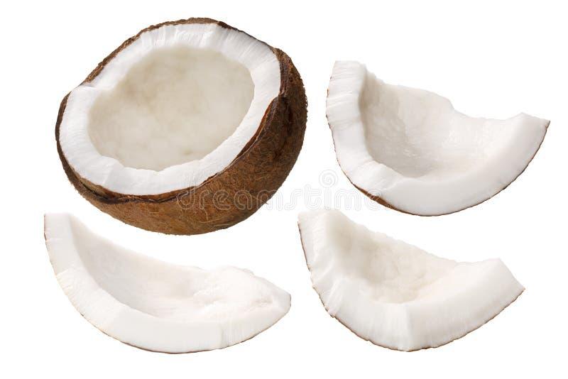 Polpa de coco c núcleo do nucifera, trajetos imagem de stock royalty free