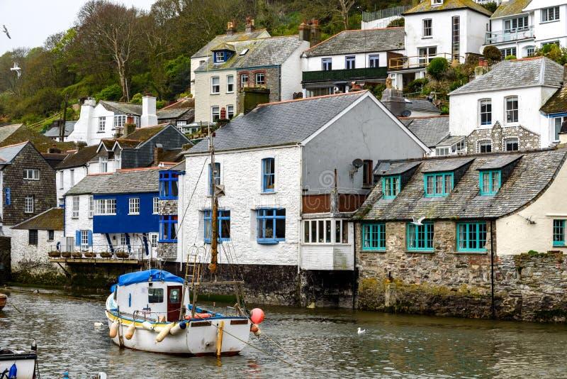 Polperro, Cornwall, het Verenigd Koninkrijk stock afbeelding