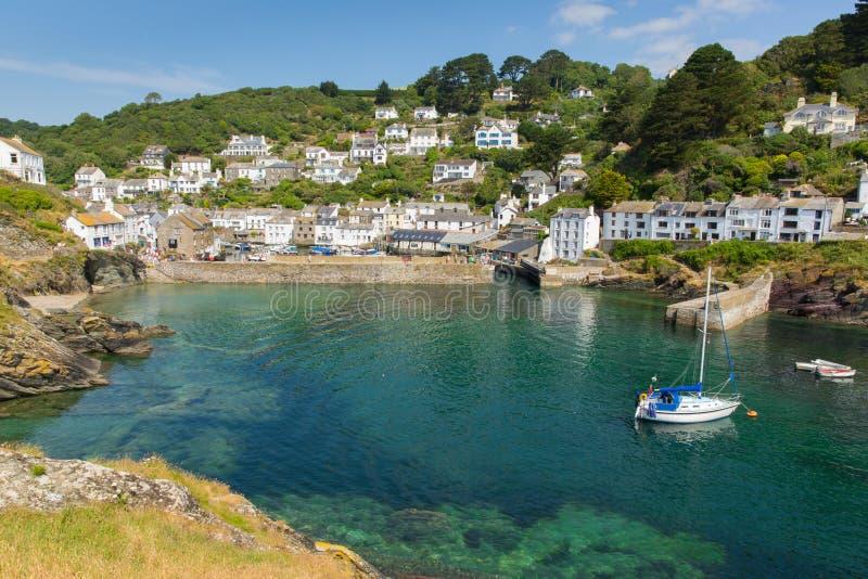 Polperro hamn Cornwall England UK arkivfoton