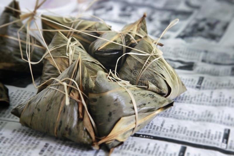Polpetta glutinosa del riso fotografie stock