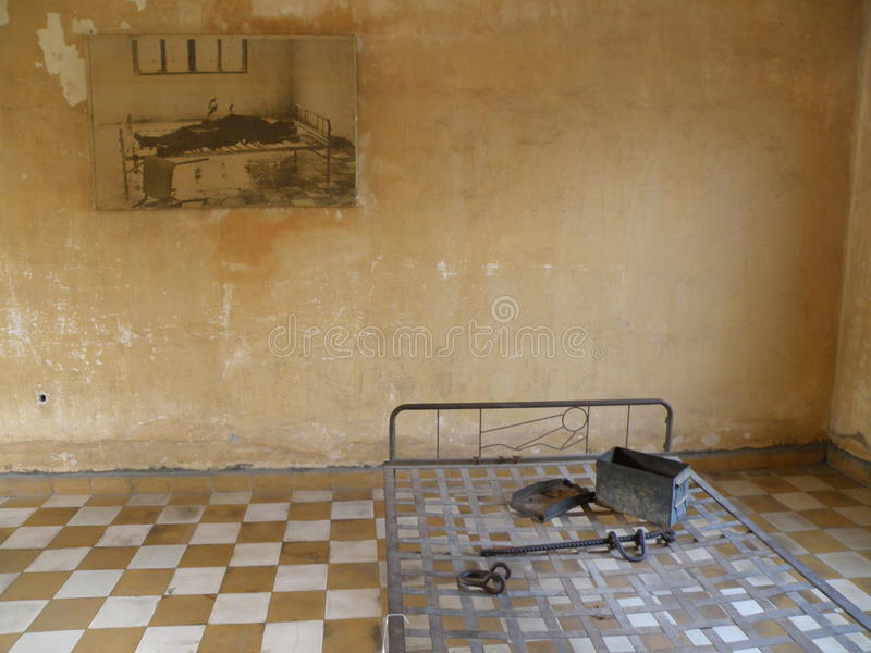 Polpot的监狱 免版税库存图片